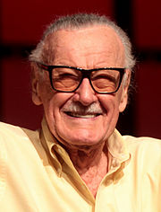 Superhero legend, Stan Lee smiling for the camera.