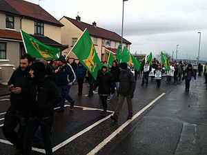 Éirígí - Members of éirígí march in Derry, January 2013