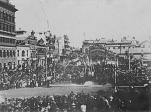 Brisbane City Hall - The (second) foundation laying ceremony, 29 July 1920