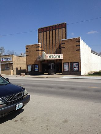 Mound City, Missouri - The State Theater, downtown