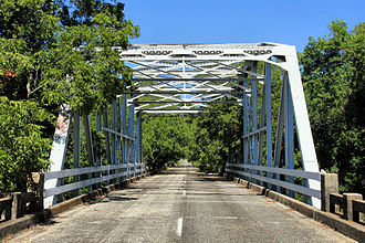 National Register of Historic Places listings in Caldwell County, Texas - Image: State highway 3a bridge plum creek 2013