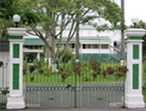 State House, Guyana - Main gates