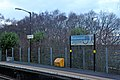 Station signs, Halewood railway station (geograph 3819904).jpg