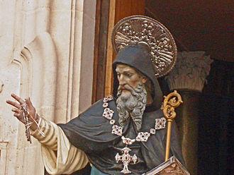 Barsanuphius of Palestine - Statue of Saint Barsanuphius at Oria