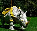 Statue of rhinoceros in Gulbenkian Park.jpg