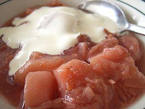 Cream - Stewed nectarines and heavy cream