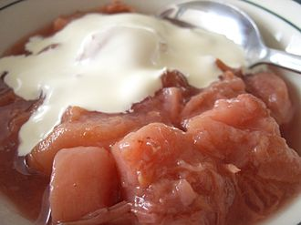 Cream - Stewed nectarines and heavy cream