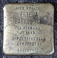 Stolperstein Badstr 58 (Gesbr) Frieda Barkowsky.jpg