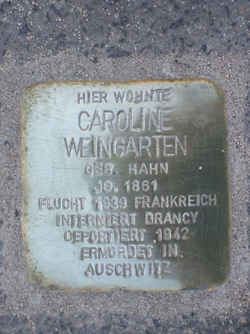 Stolperstein Caroline Weingarten.jpg