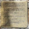 Stolperstein Cunostr 109 (Schmd) Martha Zimmt.jpg