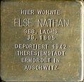Stolperstein Köln, Else Nathan (Brüsseler Straße 104).jpg