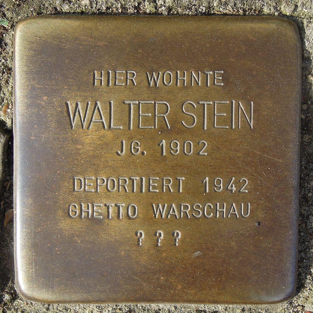 Stolperstein Salzwedel Neuperverstraße 64 Walter Stein