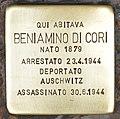 Stolperstein für Beniamino di Cori (Rom).jpg