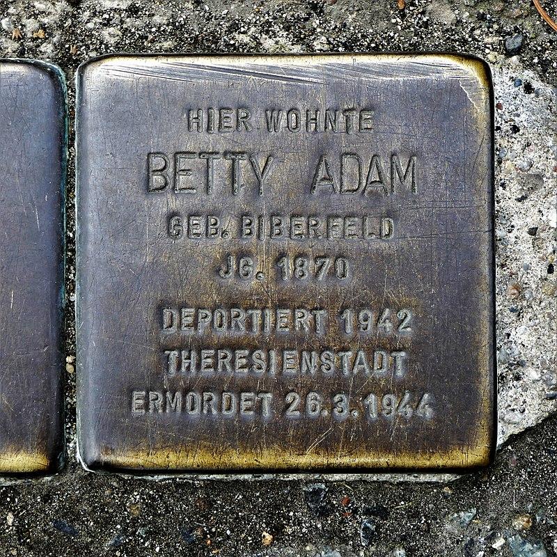 Stolperstein für Betty Adam, Külzufer 16, Zittau.JPG