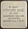 Stolperstein für Ingac Lefkovits (Nyíregyháza).jpg