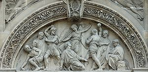 The stoning of St. Stephen by Gabriel-Jules Th...