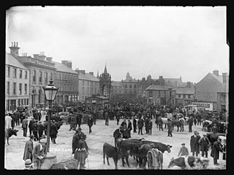 Strabane - Photograph of Strabane Fair by Herbert F. Cooper, c. 1910 (PRONI)