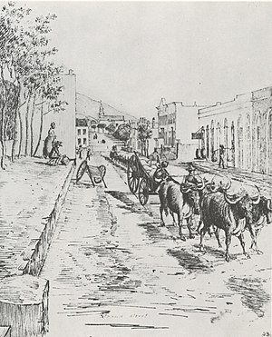 Charles Etienne Boniface - Strand Street, Cape Town during Boniface's time