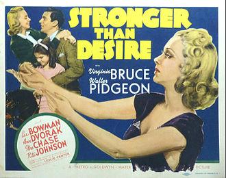 Stronger Than Desire - Lobby card