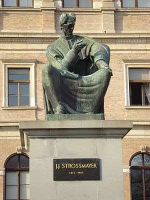 Josip Juraj Strossmayer - Strossmayer monument in Zagreb by Ivan Meštrović