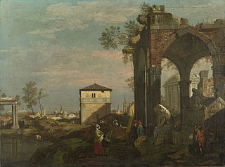 A Caprice Landscape with Ruins