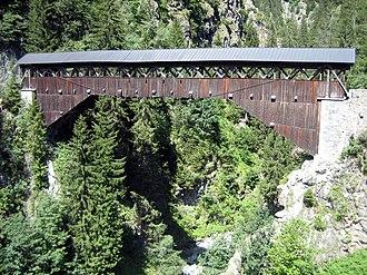 Sumvitg - Punt Russein bridge (shared with Disentis/Mustér)