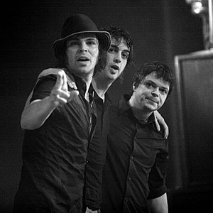 Supergrass - From left to right: Gaz Coombes, Danny Goffey and Mick Quinn at Roundhouse, London, 14 March 2008