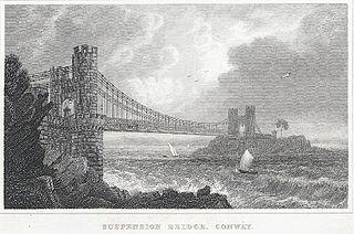 Suspension Bridge, Conway. Caernarvonshire