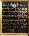Svend Foyn (1809–94) Norwegian whaling magnate Epitaph Painted text 1894 Slottsfjellsmuseet Museum Tønsberg Norway 2020-01-21 DSC02149 adjusted.jpg