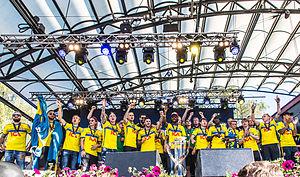U21-mästarna firas i Kungsträdgården i Stockholm den 1 juli 2015. b56192d7cff76
