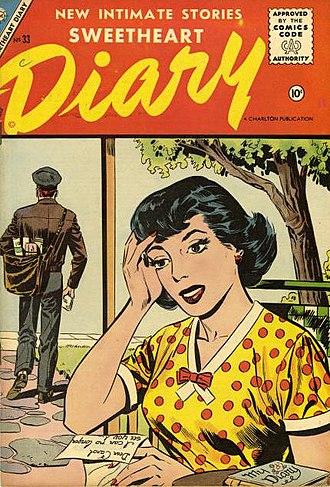 Charlton Comics - Image: Sweetheart Diary No 33 Charlton, 1956 SA