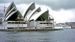 Sydney Opera House construction 1968