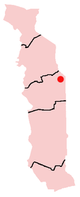 Location of Tchamba in Togo
