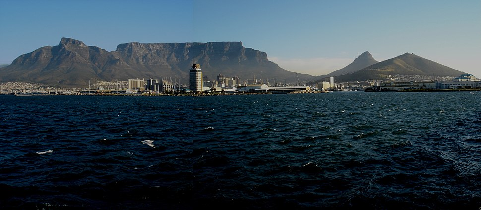 Table Mountain from harbour