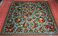 Tablecloth cotton glass beads Penang early 20th century IMG 9881 singapore paranakan museum.jpg