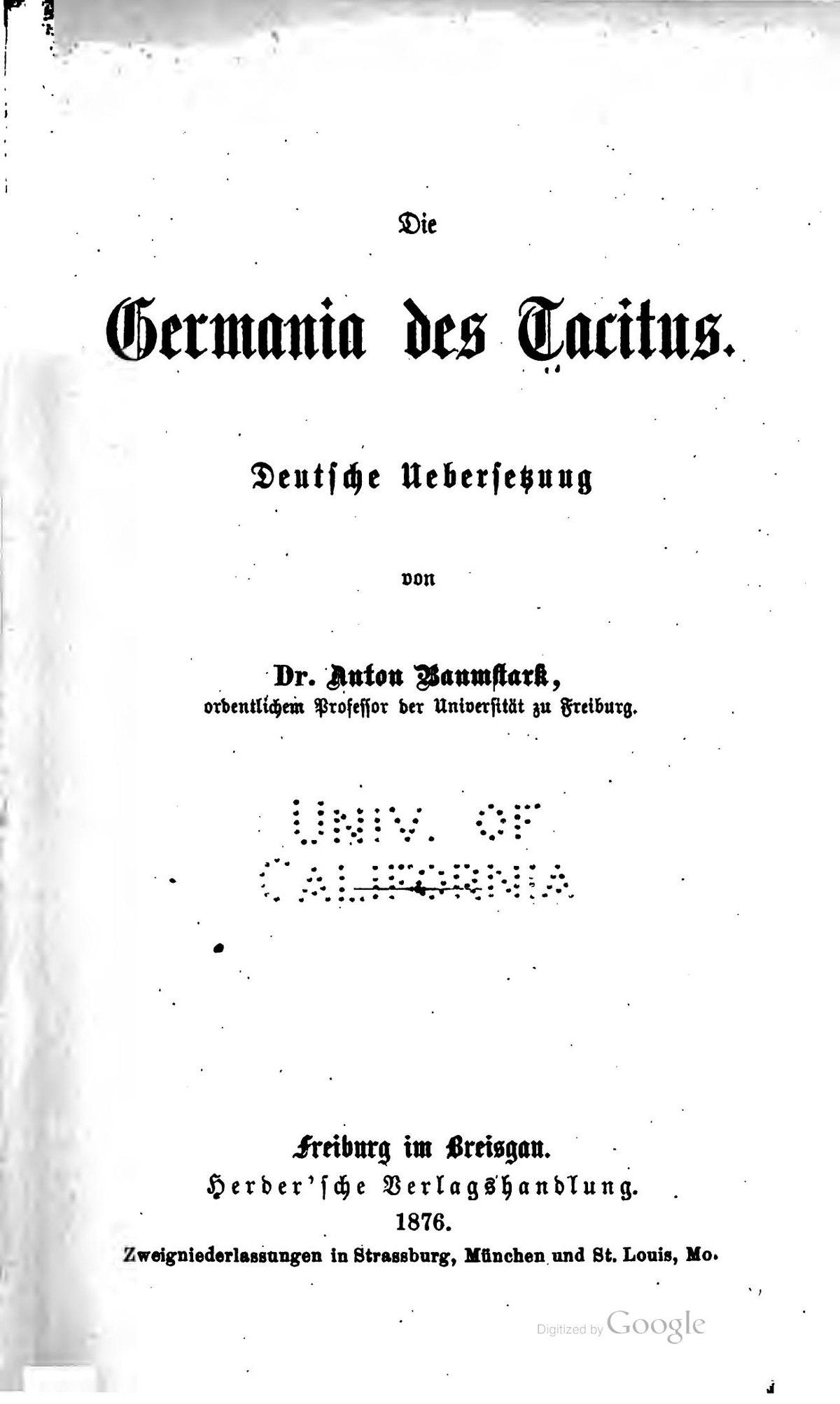 germania libro wikipedia la enciclopedia libre