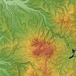 Taisetsu Volcano Group Relief Map, SRTM-1.jpg