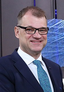 Juha Sipilä Finnish businessman and politician (b. 1961)