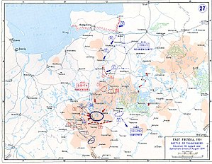 Movements of 27 August-30 August 1914