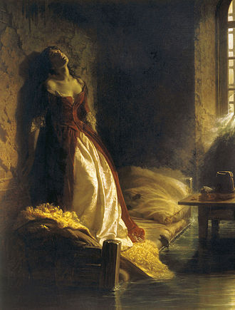 Alexei Razumovsky - Princess Tarakanova, in the Petropavlovsk Fortress at the Time of the Flood (1864, Tretyakov Gallery).