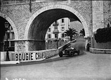 Photo de Tazio Nuvolari au Grand Prix de Monaco 1932.
