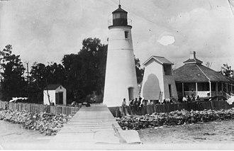 Tchefuncte River Range Lights - Image: Tchefuncte River Light in 1918 LA