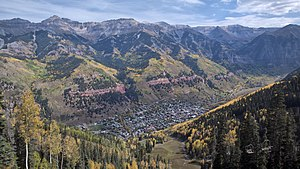 Telluride, Colorado - Fall colors in Telluride. View from the ski area, 2010