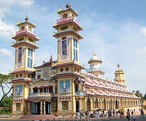 "Caodaism - The ""Holy See"" temple in Tây Ninh is the centre of the main Caodaist church."