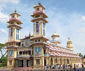 Cao Dai temple in Tay Ninh, Vietnam