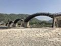 Tenshu of Iwakuni Castle and Kintaikyo Bridge 5.jpg