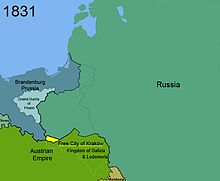 Territorial changes of Poland 1831
