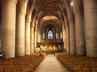 Tewkesbury Abbey - The nave of Tewkesbury Abbey