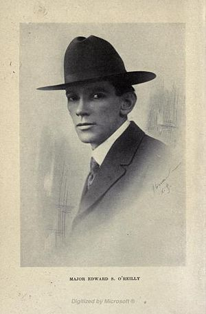 Tex O'Reilly - Photo of O'Reilly from Roving and Fighting: Adventures Under Four Flags, published in 1918