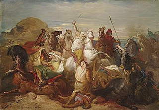 Battle of Arab Horsemen